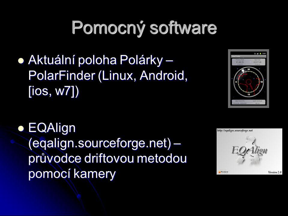 Pomocný software Aktuální poloha Polárky – PolarFinder (Linux, Android, [ios, w7])